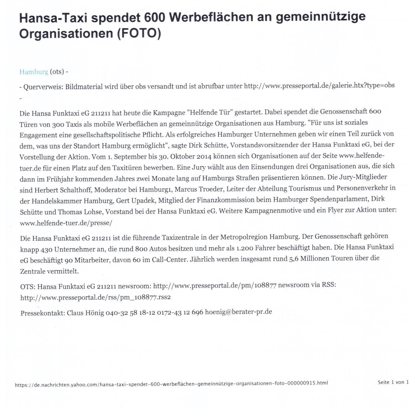 über hamburg taxi